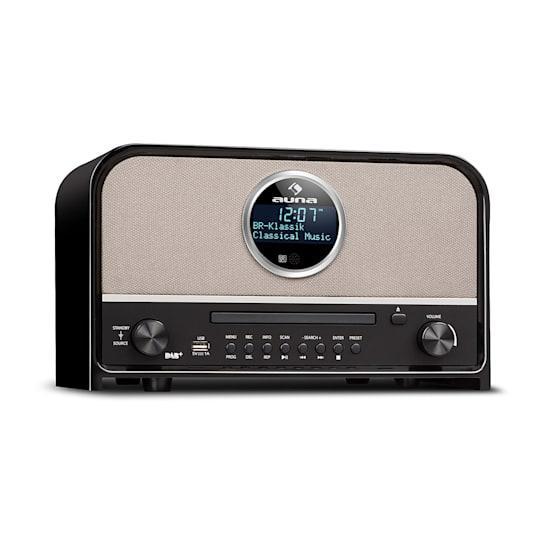 Columbia DAB Radio 60 W max. CD DAB+/VHF-Tuner BT MP3 USB Nero