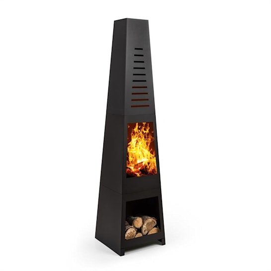 Monument Garden Fireplace Steel