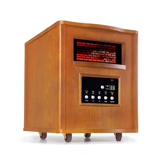 Heatbox, инфрачервен нагревател, 1500 W, 12-часов таймер, дистанционно управление, дъб