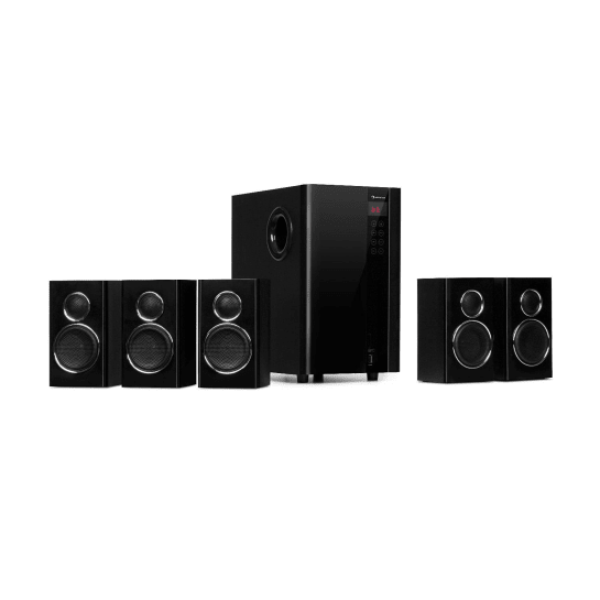Areal Touch, 5.1 reproduktorový systém, 200 W max., OneSide subwoofer, BT, USB, SD