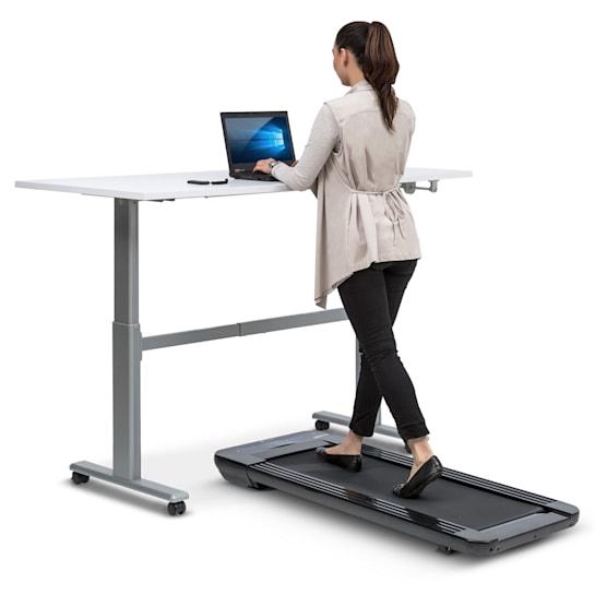 Workspace Go Tapis roulant 350 W, 0,8 - 6 km/h, 11 cm altezza, nero