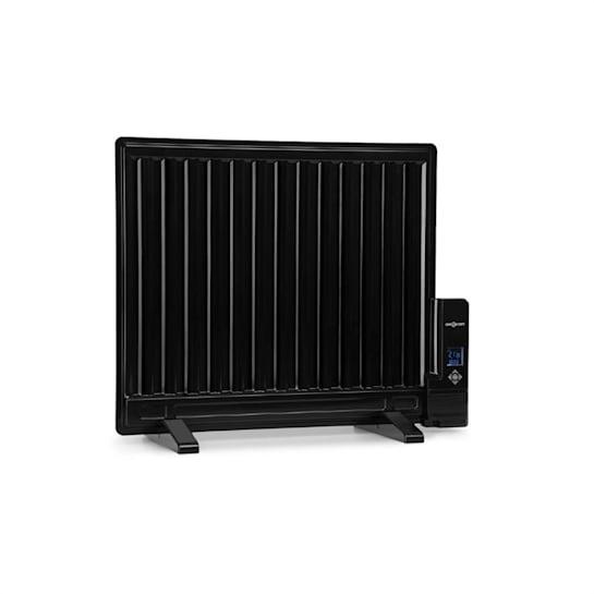 Wallander, olajradiátor, 600 W, termosztát, fűtés olajjal, lapos design, fekete