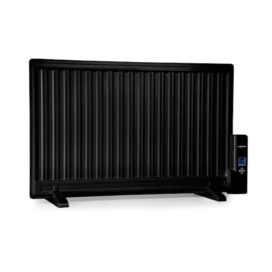 Wallander radiatore a olio 800 W termostato ultrapiatto nero