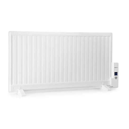 Wallander Ölradiator 1000W Thermostat Ölheizung ultraflach weiß