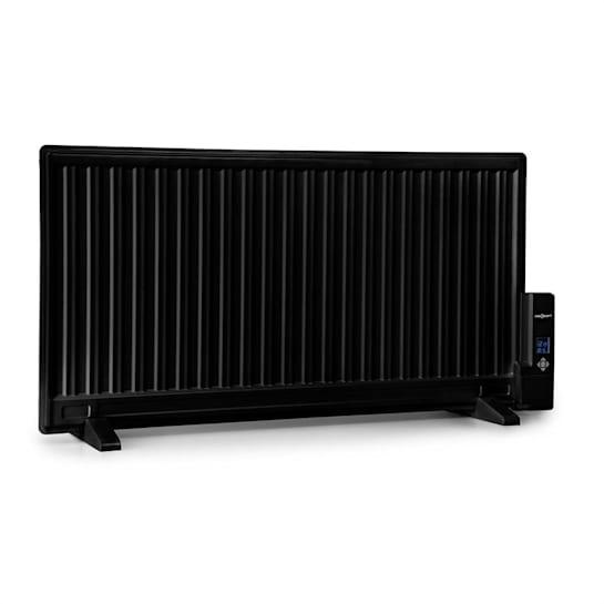 Wallander Ölradiator 1000W Thermostat Ölheizung ultraflach schwarz
