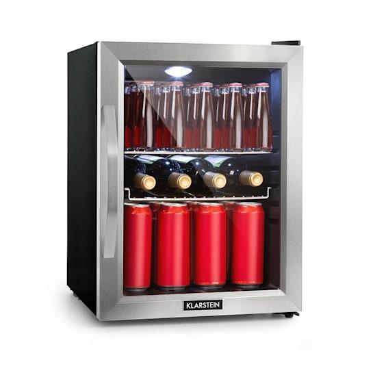 Beersafe M kylskåp A++ LED 2 metallgaller glasdörr svart