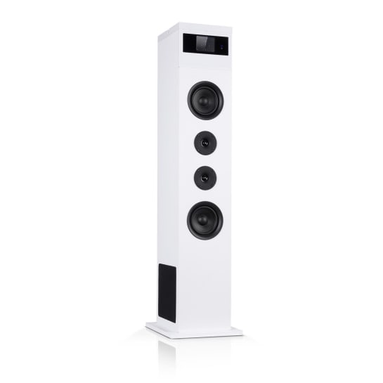 Karaboom 100 Altoparlante 120Wmax. BT/USB/MP3/UKW/AUX-In Porta tablet bianco