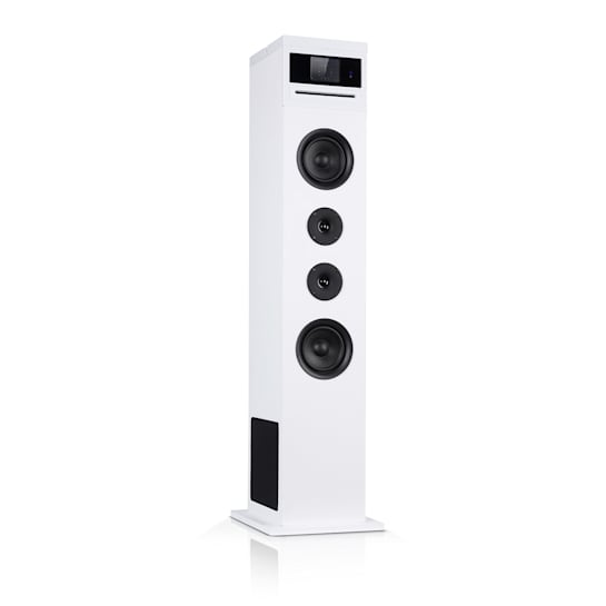 Karaboom 100 Wifi Tower Speaker Internet Radio DAB + BT 120W White