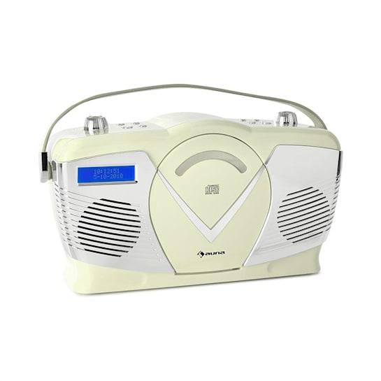 RCD-70 DAB Lecteur CD Radio FM/DAB+ USB Bluetooth Look rétro crème