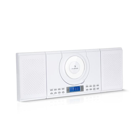 Wallie Microsystem Lettore CD Bluetooth Porta USB Telecomando bianco