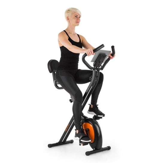 X-Bike XBK700 Pro Bicycle Exercise Bike Ergometer Heart Rate Monitor Foldable orange