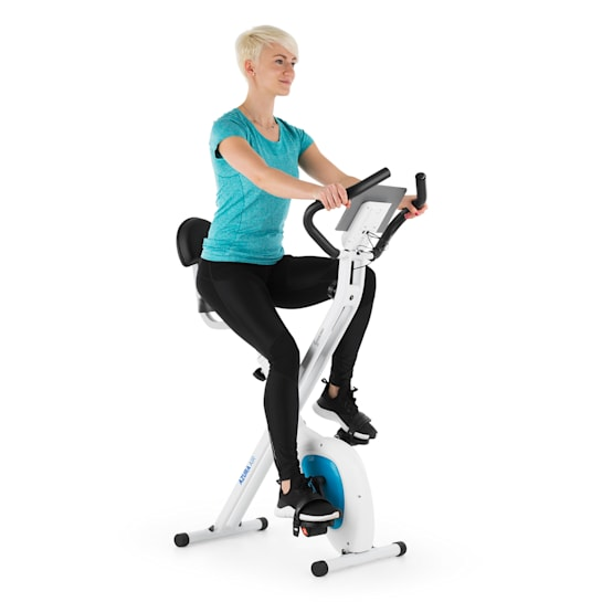 Azura Air Bicycle Exercise Bike Ergometer Heart Rate Monitor Foldable White