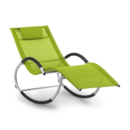 Westwood, houpací lehátko, ergonomické, hliníkový rám, zelené