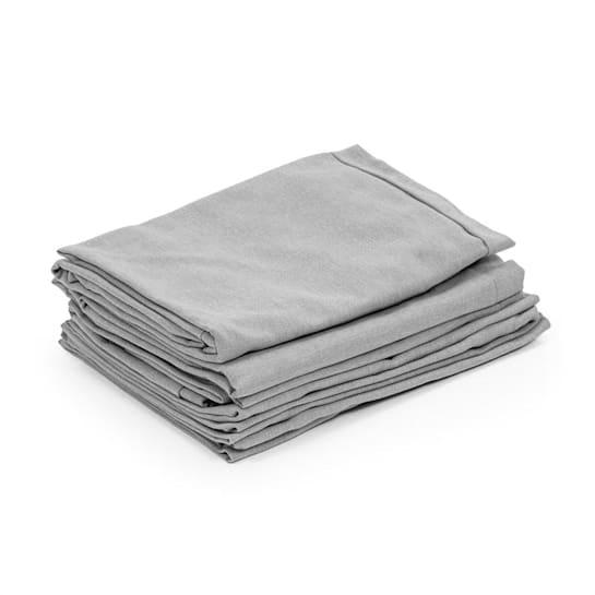 Theia Polsterbezüge 8 Teile 100% Polyester wasserabweisend hellgrau