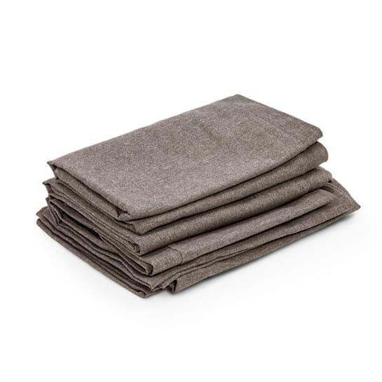 Titania Set, huse pentru perne, 10 piese, 100% poliester, maro