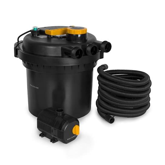 Aquaklar Set Filtro per Stagno Chiarificatore UV-C 11W Pompa 35W Tubo 5m