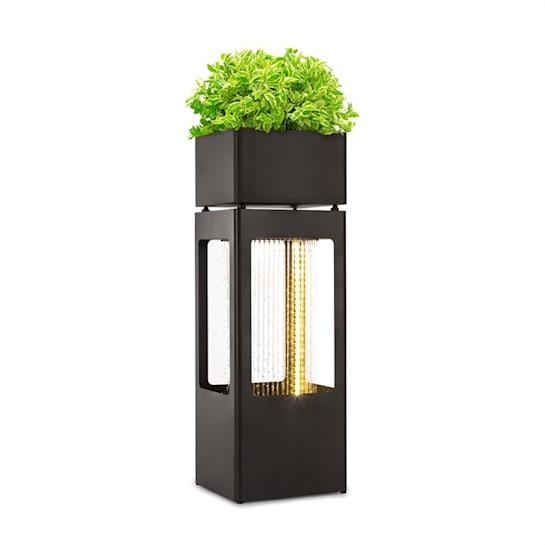 Waterplant Fontana con Vaso per Piante 16W Metallo Zincato