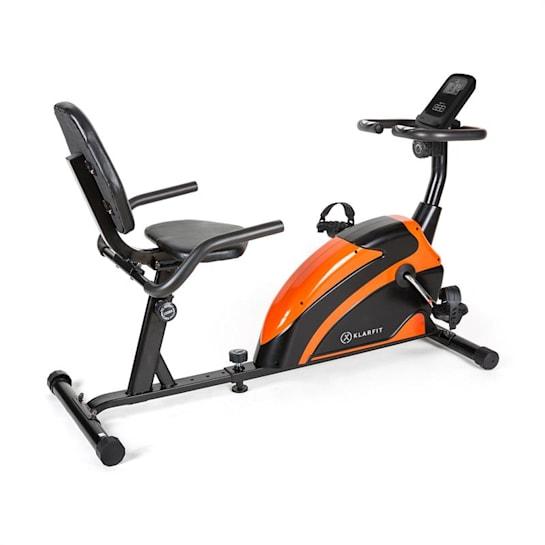 Relaxbike 6.0 SE, ležící ergometr, 12 kg, setrvačník, 100 kg, oranžová