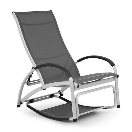 Beverly Wood Sun Lounger Rocking Chair Aluminium Grey