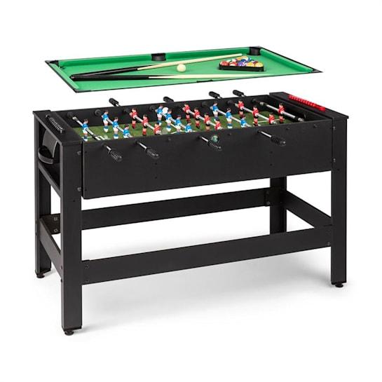 Spin 2-in-1 Spieletisch Billard Kicker 180° drehbar Spielzubehör
