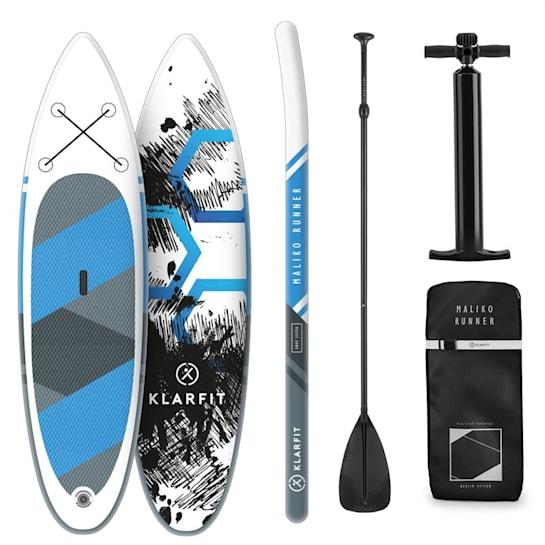 Maliko Runner aufblasbares Paddle Board SUP-Board-Set 305x10x77 blau