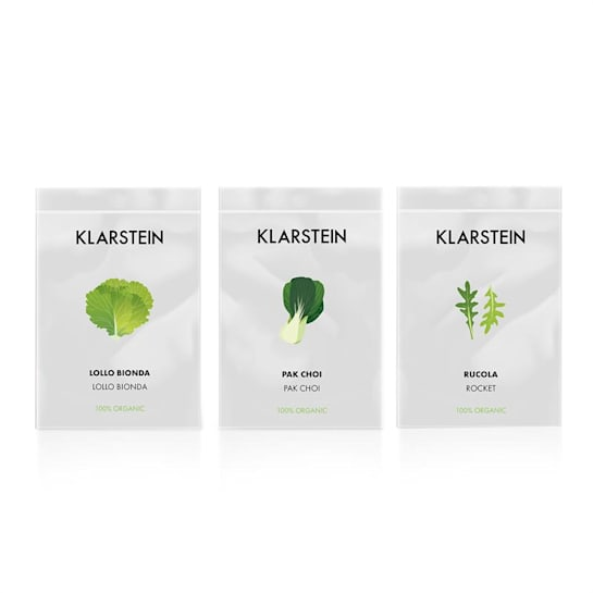 GrowIt Seeds Insalata | tre pacchetti di semi: Lollo Bionda, Pak-Choi, Rucola