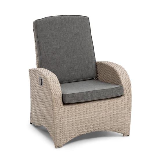 Comfort Siesta fotel ogrodowy regulowane oparcie jasnoszary