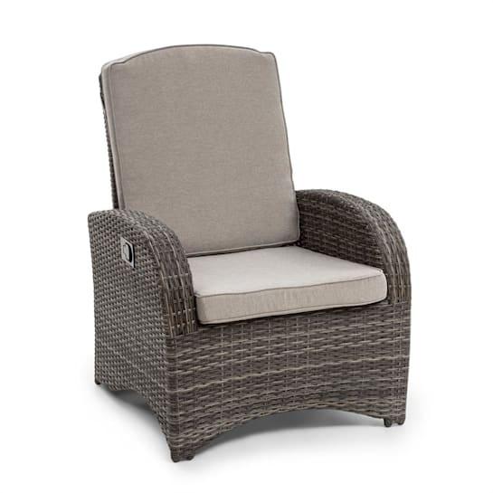 Comfort Siesta Sessel verstellbare Rückenlehne dunkelgrau
