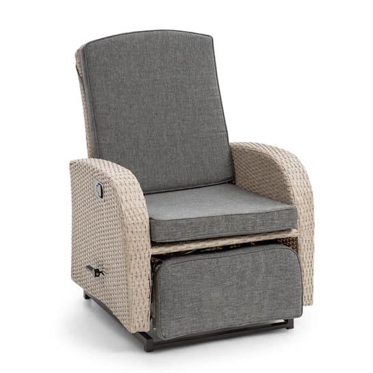 Comfort Siesta Luxury Sessel verstellbare Rückenlehne Fußteil hellgrau