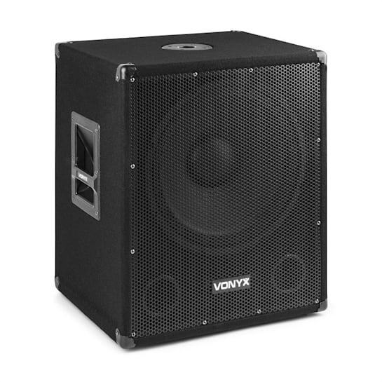"""SMWBA15 Aktiver 15"""" PA-Subwoofer 600 W max. BT MP3 Flansch-Anschluss"""