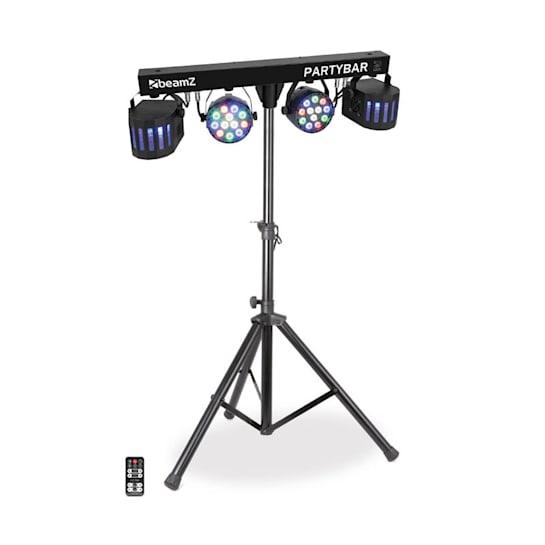 Partybar 2, kompletní systém osvětlení, 100 W, RGBW, DMX / samostatný provoz, černý