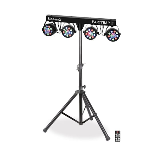 Partybar 3 impianto d'illuminazione 85W RGB DMX/Standalone treppiedi nero