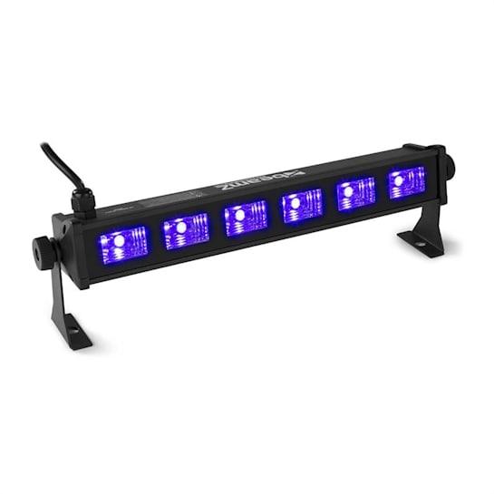 BUV63 LED Bar 6x3W UV LEDs schwarz