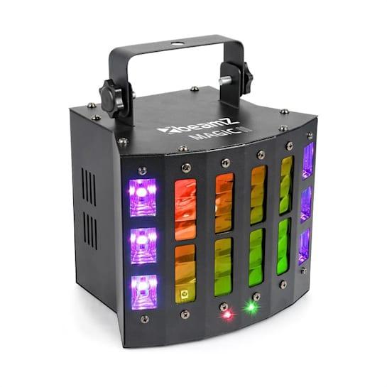 Magic 2 Faro LED Effetti Derby Laser R/G Strobo/UV 9 Canali DMX nero
