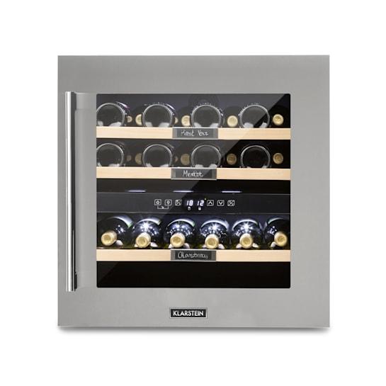 Vinsider 36 Wine Refrigerator 2 Cooling Zones 5-22 ° C 94l Stainless Steel