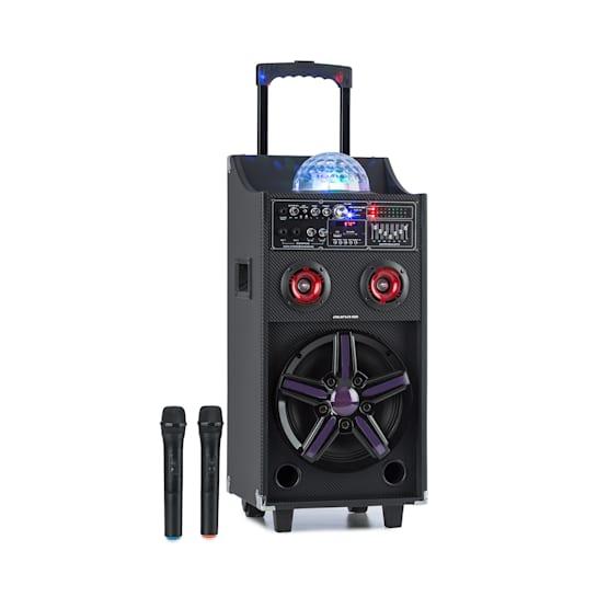 DisGo Box 100 impianto PA portatile 50W RMS BT slot SD LED USB batteria nero