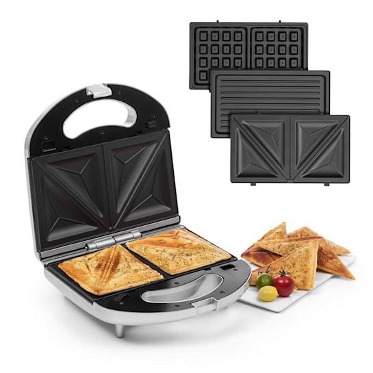 Trilit 3-in-1 Sandwich Maker 750w 3 grillilevyä LED tarttumaton pinta hopea