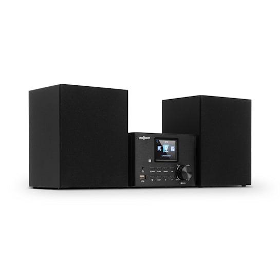 Streamo Stereo System with Internet Radio WLAN DAB + FM CD Player BT Black