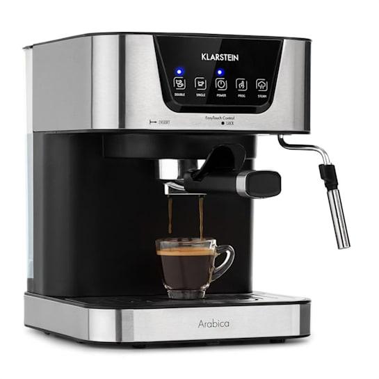 Arabica -espressokeitin 1050 W 15 bar 1,5 l kosketuskäyttöpaneeli ruostumaton teräs