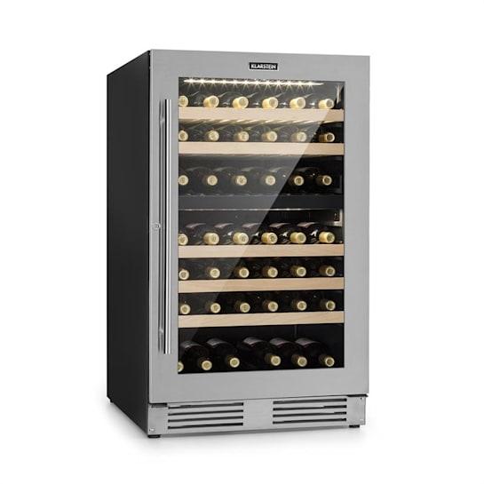 Vinovilla Duo79 Zweizonen-Weinkühlschrank 189l 79 Fl. 3-lagige Glastür