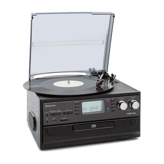Oakland, sistem stereo retro, FM, funcție BT, vinil, CD, casetofon, MP3