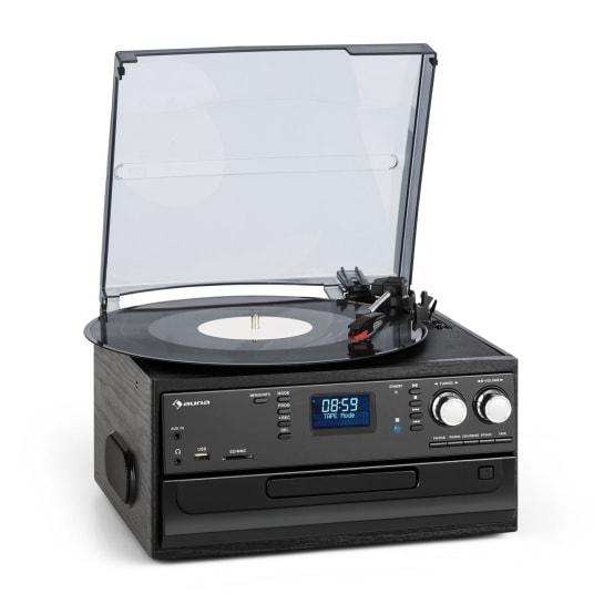 Oakland DAB Retro-Stereoanlage DAB+/FM BT-Funktion Vinyl CD Kassette