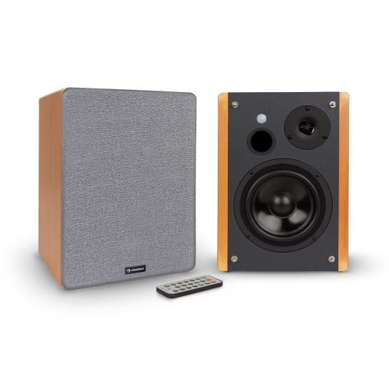 Line 500 A Bookshelf Speakers 2x30W Opt / Coax-in Wood Optics
