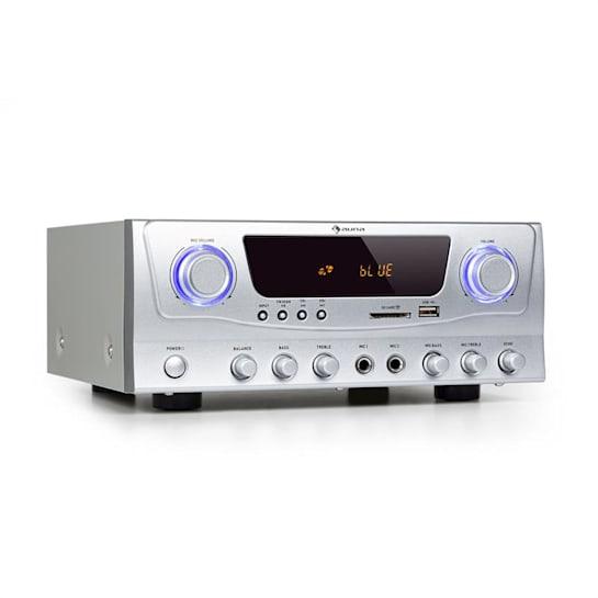 Amp-2 BT amplificatore HiFi 2x50 W RMS BT USB SD 2 x microfoni