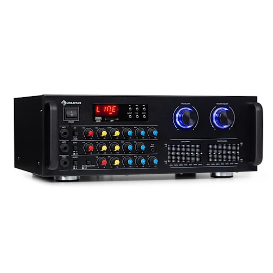 Amp-Pro1 BT amplificatore PA 2x50 W RMS BT USB SD equalizzatore a 7 bande 2 canali