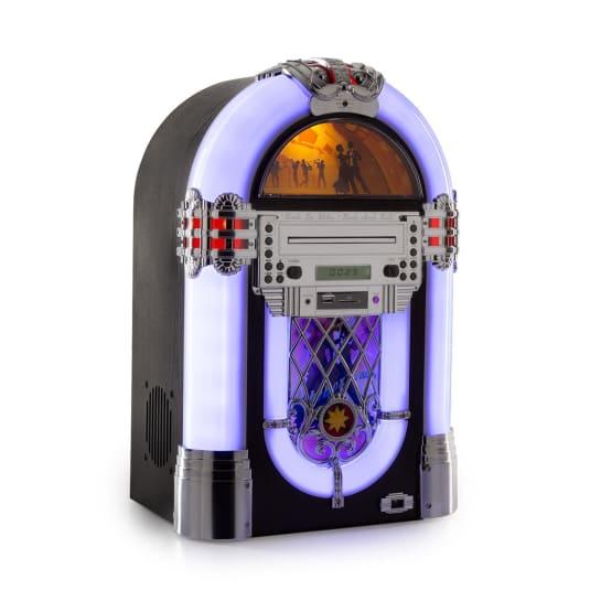 Kentucky, jukebox, BT, FM rádio, USB, SD, MP3, CD přehrávač, bílý