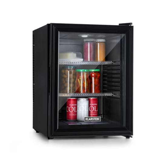 Brooklyn 42, hladnjak, energetska klasa A, staklena vrata, crni interijer, crni