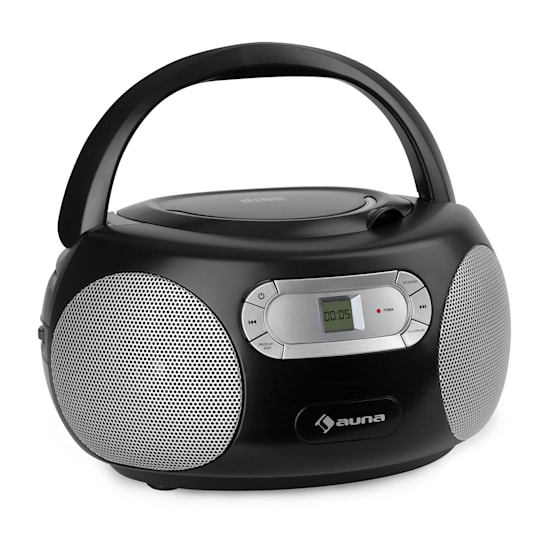 Haddaway CD Boombox CD-Player Bluetooth UKW AUX-IN LED-Display schwarz