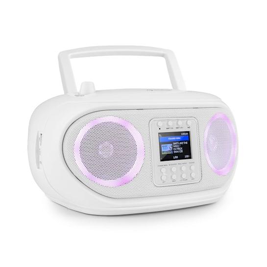 Roadie Smart, boombox, radio internetowe DAB/DAB+, UKF, odtwarzacz CD, oświetlenie LED, Wi-Fi, Bluetooth