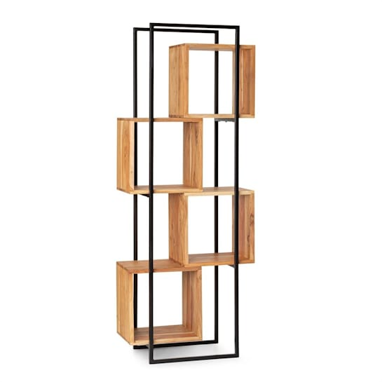 Rotterdam Shelf Acacia Wood Iron Frame 4 Levels 70 x 180 x 33.5 cm Wood